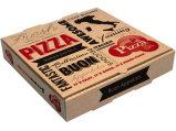 Rectángulo de papel de la pizza de la impresión, ventas al por mayor de empaquetado del rectángulo de la pizza del papel de bajo costo