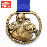 Медальон медали пожалования спорта оптовой новой конструкции изготовленный на заказ 3D античный латунный покрынный Souvenirmetal