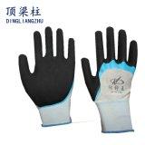 перчатки безопасности 13G Sandy с латексом усиленным перстом покрыли