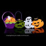 De Niet-geweven Zak van de Gift van het Suikergoed van de bevordering voor de Partij van Halloween, de Zakken van de Pompoen voor Jonge geitjes