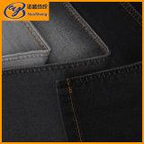 サテン織り方の黒いカラー綿ポリエステルスパンデックスの粗紡糸のデニム