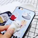 Анти- крышка случая телефона шаржа редуктора 3D усилия на iPhone 8
