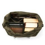 Saco de Duffle encerado ocasional da lona do Mens para viajar