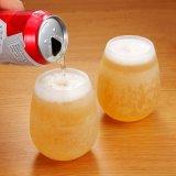 El agua irrompible del vino de la cerveza del silicón ahueca la copa