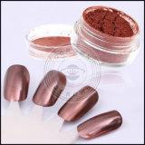 Polvo cosmético del polaco de clavo del efecto del espejo del cromo del grado