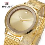 Montre-bracelet en acier ultra-mince de femmes de modèle simple de cadran d'affaires de Belbi