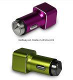 Порты 5V 2.1A USB заряжателя 2 силы автомобиля алюминиевого сплава мобильного телефона