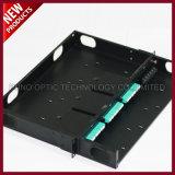 144F fibra MPO óptico MTP 1U el panel de corrección de 19 pulgadas