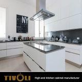 安価な費用しかし鋭く白いキャビネットの台所デザインTivo-0024hの台所食器棚デザイン