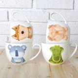 Mejor la venta de grandes multicolores de cerámica plato de sopa con la cuchara en Venta