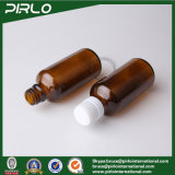 botella ambarina de cristal de 5ml 10ml 15ml 20ml 30ml 50ml 100ml con el casquillo y la pieza inserta inalterables para la botella de cristal ambarina del cuentagotas del petróleo cosmético
