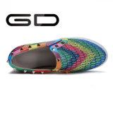 Echtes Leder-Süßigkeit-Farben-Form-beiläufige Schuh-Dame-flache Schuhe
