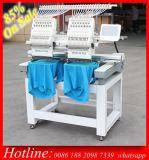 Precio doble de la máquina del bordado del ordenador del color de la pista 15 de Holiauma para el bordado del casquillo 3D de la camiseta