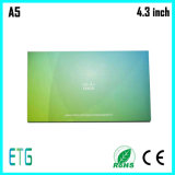 визитные карточки 4.3inch, видео- поздравительные открытки, визитная карточка с LCD