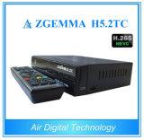 Os afinadores 2017 do linux Enigma2 Zgemma H5.2tc três DVB-S2+ 2X DVB-T2/C Dual caixa superior ajustada do cabo de Hevc H. 265 do núcleo