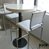 Gaststätte-Möbel-künstlicher runder Steintisch mit Firmenzeichen