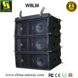 W8lm angeschalten, eine 8 Zoll-Minidreiwegezeile Reihen-Lautsprecher bereisend
