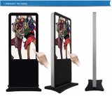 LCD表示を広告する65インチのデジタルタッチ画面を立てる屋内床