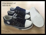 Самые последние ботинки конька ботинок холстины PU впрыски вскользь (XHH417-46)