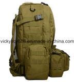 Camuflar dobro do ombro que caminha o saco tático de acampamento da trouxa do alpinismo (CY3607)