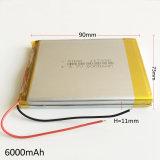 """батарея Lipo зернокомбайна полимера лития 3.7V 6000mAh перезаряжаемые для PC Naptop 117390 таблетки """" 9 """" крена 7 силы GPS PSP DVD пусковой площадки"""