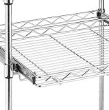 Тележка микроволны кухни ярусов высшая DIY крома 3 завальцовки стальная с деревянной верхней частью