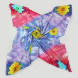 ヒマワリのデジタル絹の印刷の大きい正方形のスカーフ