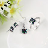 Promotionnel 18k Trendy Dazzle Cubic Zirconia Jewelry Set for Party
