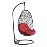 고품질 거는 의자 SGS PE 등나무 & UV 저항하는 직물 방석 그네 의자