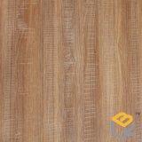 Papel decorativo con el grano de madera de roble para los muebles, puerta, MDF, HPL