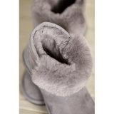 Doppi pattini puramente Handmade di inverno di modo dei caricamenti del sistema delle donne della pelle di pecora del fronte