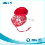 最上質の使い捨て可能で赤く堅い箱一方通行弁CPRマスク
