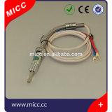 Micc 90のくねりが付いているまっすぐな外装またはバイオネットの付属品が付いている304のSstの薄膜Rtdのプローブ