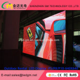 P8 écran extérieur de la location DEL Afficheur LED de location extérieur de 640 x de 640mm P8 HD