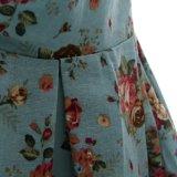 Fabricant du fournisseur 50's Dancing Clothing V Collar Blue Dresses