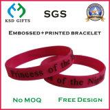 Peronalized ha stampato/Wristband di riempimento di Debossed/impressa colore del silicone per la promozione