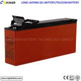 Batteria profonda 12V125ah del ciclo dell'euro gel solare terminale anteriore standard