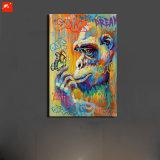 Pittura della tela di canapa della farfalla e della gorilla