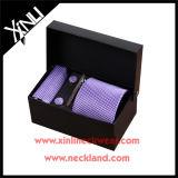 Jogo roxo tecido do laço da seda de 100% jacquard Handmade