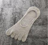 Einfache Baumwollerutschfeste Non-Slippery Griff-Zehe-Socken