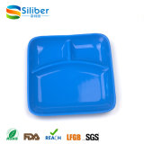 Type de vaisselle de plaques de gosses avec LFGB, type divisé couvre-tapis de la conformité 3 de FDA de repas de bébé de silicium