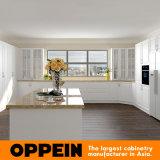 Module de cuisine modulaire en bois blanc de PVC d'U-Forme traditionnelle d'Oppein (OP16-PVC04)