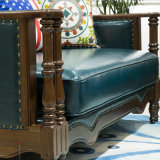 Sofà americano del cuoio genuino di disegno moderno per la mobilia As843 del salone