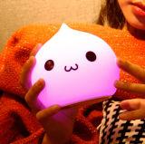 Свет ночи кота любимейшего симпатичного силикона мягкий СИД детей маленький, сжимает свободно длинний свет USB рабочего временени перезаряжаемые для освещения/украшения подарка/комнаты