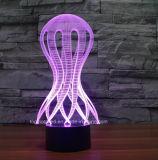 Lámpara con pilas decorativa de la luz de la noche del interruptor 3D del tacto de la ilusión LED de las dimensiones de una variable de la aduana para el regalo de los cabritos