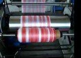 2カラーストリップのTシャツ袋のフィルムの吹く機械