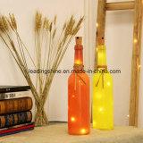 La botella del corcho enciende luces de hadas de la cadena LED 10 bulbos del LED para la decoración de la Navidad del festival del partido