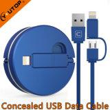携帯電話およびiPadのための1つのUSB充満ケーブルに付き新しい2つ