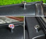 Tecla de fechamento Mini Cooper da porta de Preto-União-Jack do cromo (2 PCS/Set)