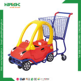 Carros de compra plásticos do metal do mantimento dos miúdos